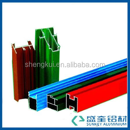 aluminium extrusion with colourful for powder coating aluminium profile in Zhejiang China