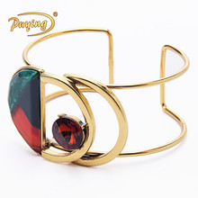 Newest design fashion hollow gold indian cuff bangle bracelets for women