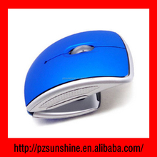 Promotion Mini USB 2.4Ghz Snap-in Transceiver Optical Foldable Folding Arc Wireless Mouse for PC Laptop Computer Mice