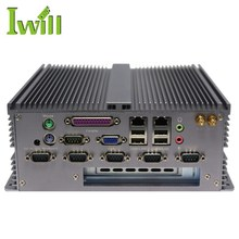 Cheap Intel Atom D2550 Fanless Industrial Mini PC With PCI Slot