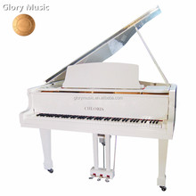 White self playing white baby grand piano, keyboard Music Instruments White Polished Acoustic Baby Grand Piano FOR SALE