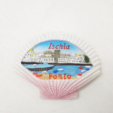 Custom design high quality tourist Italy Ischia Forio souvenir 3D resin shell fridge magnets world country cities for wholesale