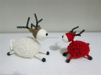 pure wool felt Christmas deer Xmas home table wool decoration
