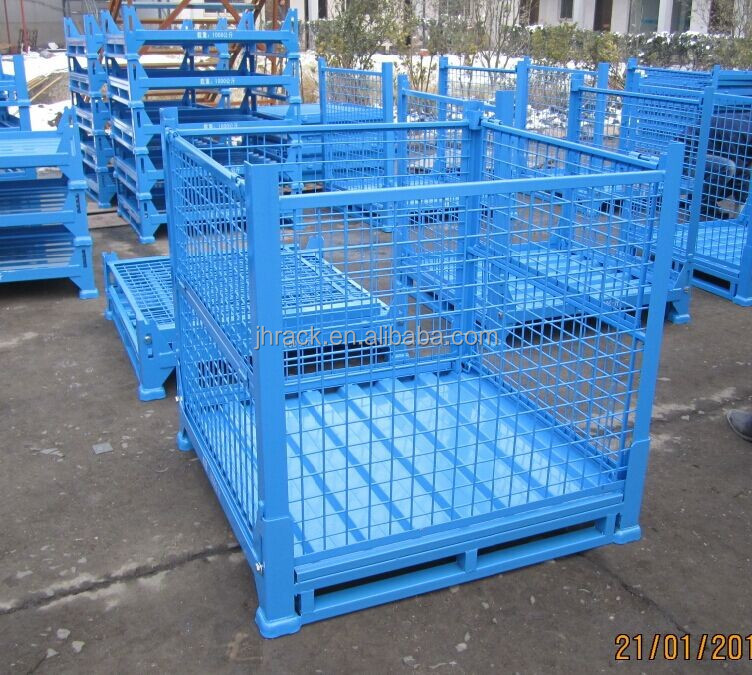 Car factory and warehouse use foldable storage cages containers