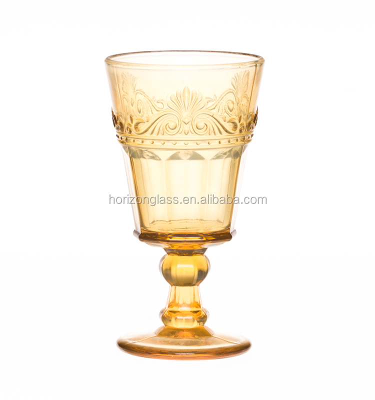 Baroque wine glass buy colored stem wine glass glass for Clear baroque glass