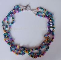 Fancy 925 Silver Multi-color Coral Necklace 19'' Free shipping