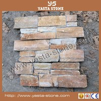 Antique Exterior Wall Cladding Natural Rust Color Slate Tile