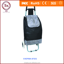 CUSTOM LOGO FOLDING SHOPPING TROLLEY BAG WITH 6 WHEELS