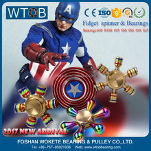 Aluminum Alloy US Captain America Fidget Hand Spinner with R188 Bearing