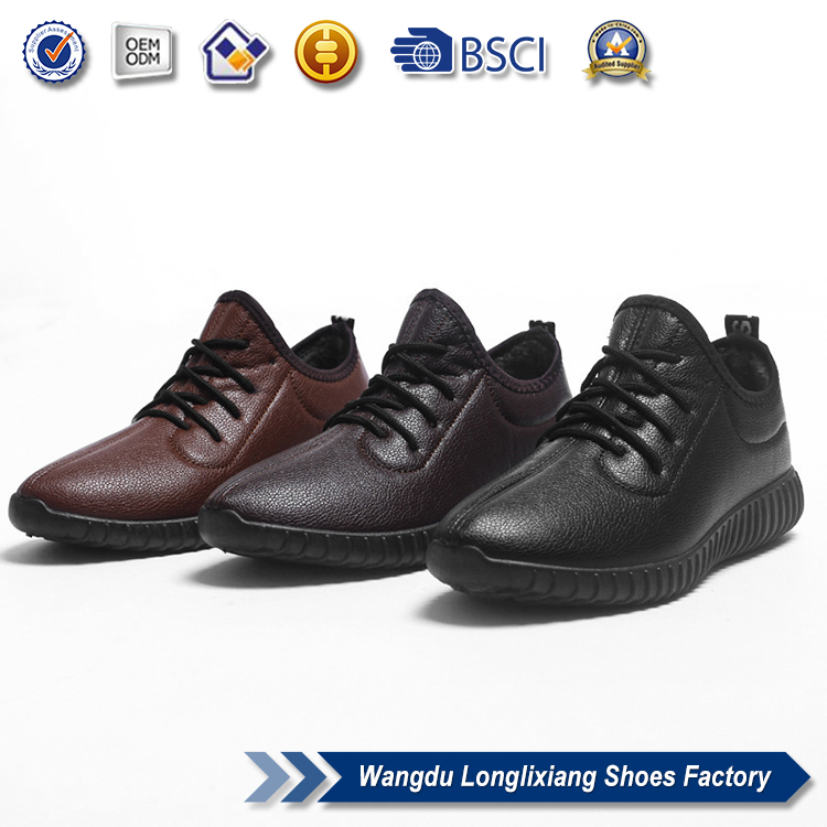 Hot sale autunm winter outdoor shoes big size cotton pu shoes