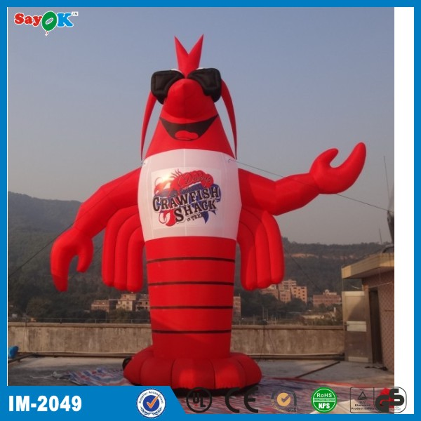Funny pvc oxford cloth inflatable crawfish shrimp inflatable