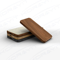 Ultra Thin Eco-friendly Wood Portable External Battery 4000mAh, Engrave Logo Corporate Gifts Power Bank 4000mAh