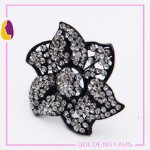Top Quality Flower Brooch For woman /crystal pins wholesale brooch in china