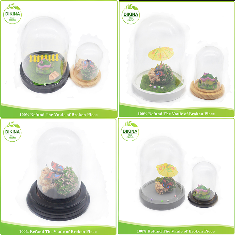 Medium Small Extra Large / milk /dessert Covered bell jar Pedestal Stand/ Cake/ Serveware/ cloche cover decorative glass dome