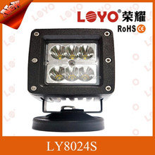 Waterproof & Shockproof IP 67 led lamp headlight 24w offroad led work light for cars trucks boats ect.