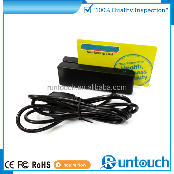 Runtouch POS Super quality hot sale new structure 206 USB magnetic card reader