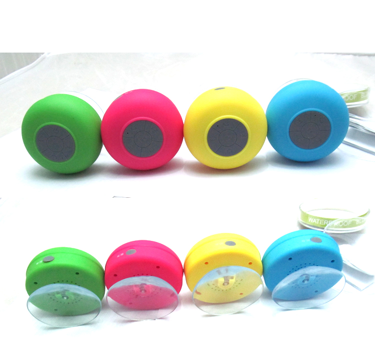 Waterproof bluetooth adjustable suction cup portable speaker