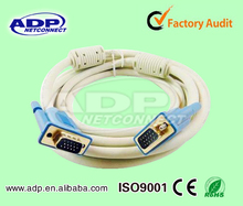 Factory sale VGA Cable 15Pin to 15Pin cables with ferriters core