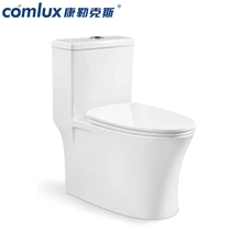 Cheap elongated cyclone flushing floor-standing toile high quality one piece watermark free standing western toilet