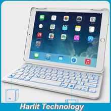 Whole Sale Bluetooth Keyboard Case for iPad mini With Back Light New Design Magnet Bluetooth Keyboard For iPad mini White Color