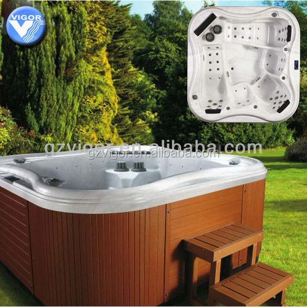 2015 Factory best seller luxury china supplier spa pool with sex massage hot tube