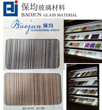 Interlayer material fabric for Decoration glass