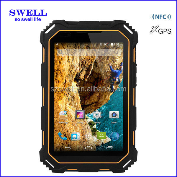 OEM ODM SWELL 7 inch Waterproof MID With NFC Built-in 3G Phone GPS Bluetooth FM WIFI Rugged Android Tablet With OTG Function