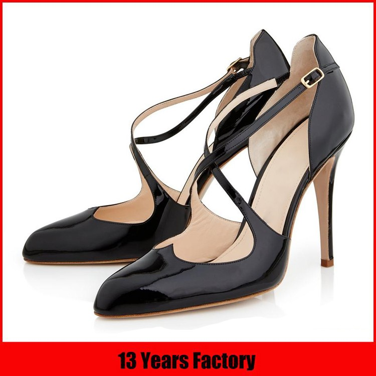 Block flat heel shoes Italy design thick sole shoe ladies pump shoe