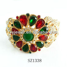 Wholesale gold plated bangles costume imitation jewellery shine gold
