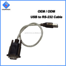 China Factory wholesale OEM custom UK FTDI Chip mini usb to rs232 cables