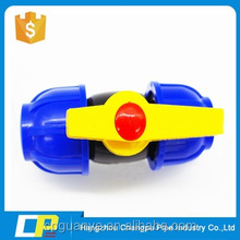 black color double quick connections hdpe ball valve for water supply
