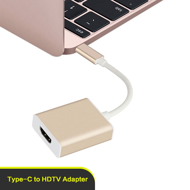 Factory price USB 3.1 type c to HDTV adapter in silver/ gold 1080p for Macbook
