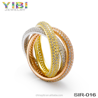 light weight gold vogue xuping jewelry wedding ring without stone in ghana