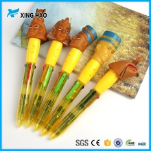 Personalized plastic cartoon pen for kids as a gift promotional cute cartoon ball pen