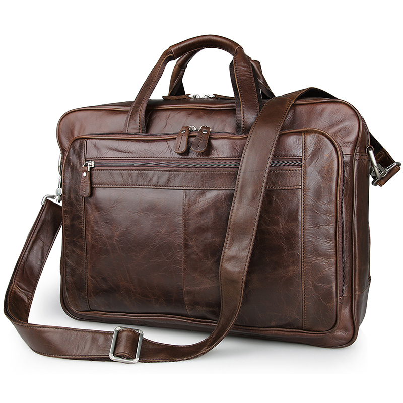 JMD 100% Genuine Cowhide Handbag Leather Men's Laptop Bag 17 Inches 7320C