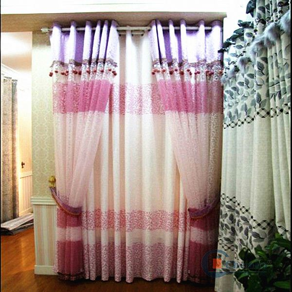 wholesale ready made silver shiny metallic curtain