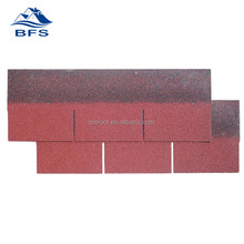 red 3-tab shingles