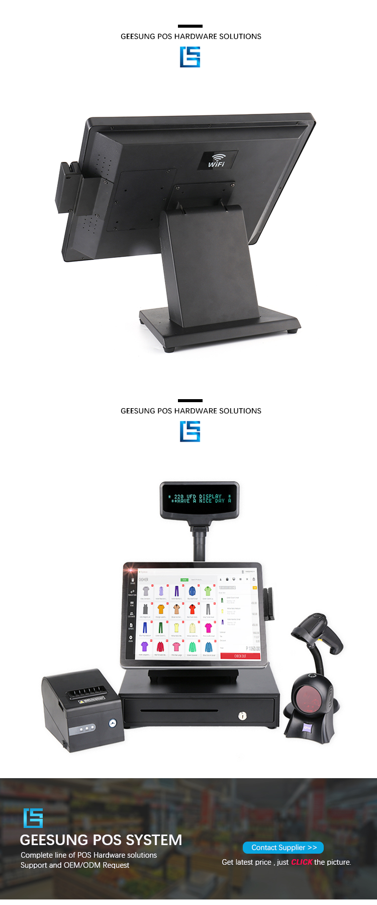 Fast speed 15'' 17'' Touch Screen All In One Pos System