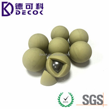 China manufacturer high quality rubber coated steel ball rubber coated metal ball