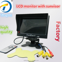 7 inch LCD TFT Car Rear View Monitor with Sunvisor