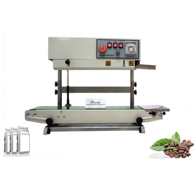 FR900 Vertical Plastic Film Sealing Machine+Date Printing Stamps Printing+Seal Belt