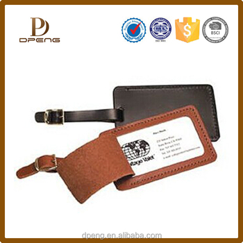 2017 New Antique design colorful custom leather genuine luggage tag