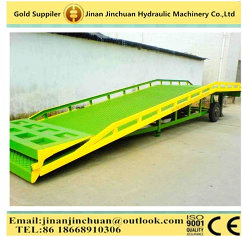 Mechanical Steel Mobile Loading Dock Ramp Lift
