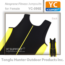 Neoprene sleeveless sport slimming jumpsuits One-piece women bodysuit