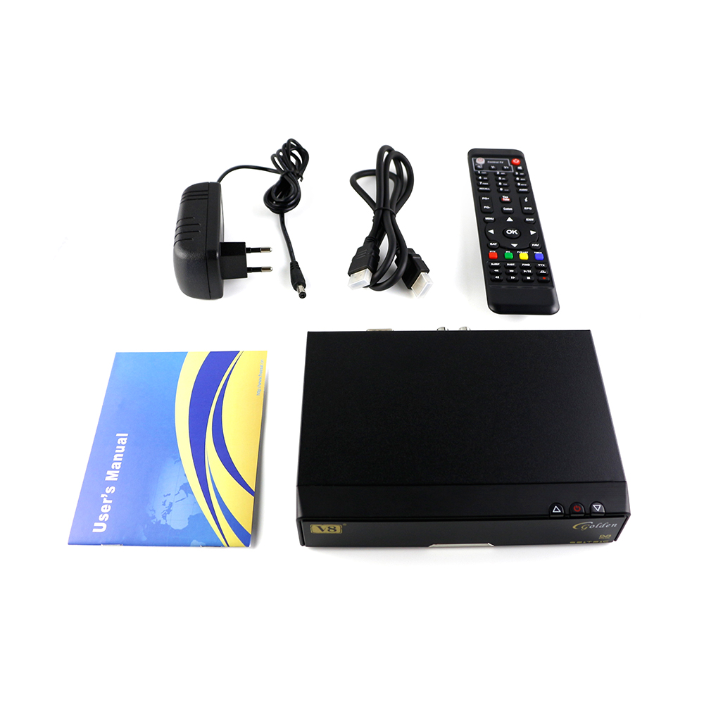 V8 Golden DVB-S2 DVB-T2 DVB-C Receptor satellite Decoder with Europe cccam Cline satellite receiver