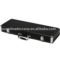 Premium 500 Black Aluminum Poker Case