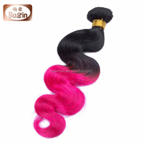 Alibaba Hot Products Factory Price Pink Human Hair Weave Pink Braiding Hair