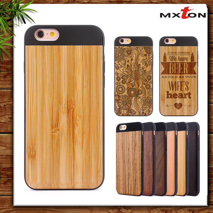 Handmade Original Fashion Bamboo Wood Case 2016 New Trending Factory Wholesale Phone Case for iPhone 6/6s Case