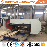 Large Electric Saw Horizontal Band Saw Sawmill For Cutting Hard Wood Into Planks