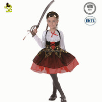 Halloween party child Girl Burlesque Pirate instant costumes